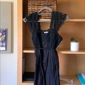 Foley black lace dress